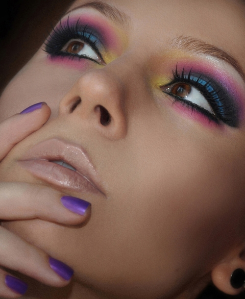 tropical rainbow look
